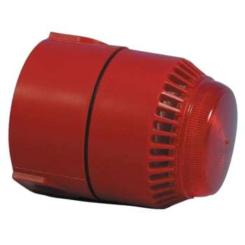 Image of   ADI Alarm System lydgiver/blitz flashni rød