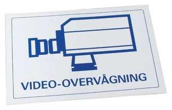 Image of   ADI Alarm System skilt video-overvågning ct100