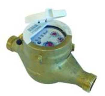 Vandmåler QN1,5 - DN15 - 1/2 165mm. Kl. B. Med HRI interface. Uden forskruning.