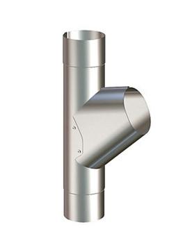 Image of   Lindab Rainline grenrør 75 mm Stålmetallic