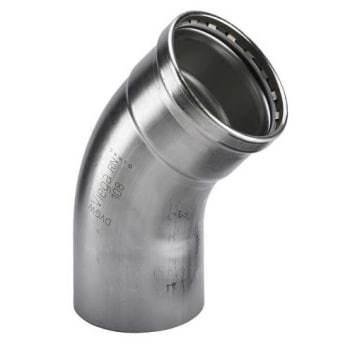 Image of   108,0mm sanpress inox bøjn 45°