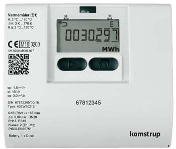 Image of   Kamstrup multical403,3,5m3/260mm/13/4