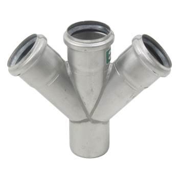 Image of   Blücher dobbelt grenrør 45°, ø50/50mm