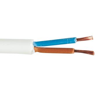 NEXANS lampeledning rund PKL 100 mtr 2x0,75 hvid