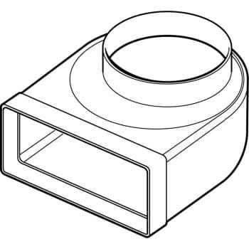 Thermex Bøjning flad 204x60 ø125mm