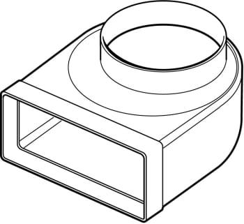 Thermex bøjning fladkanal 220x90 ø150